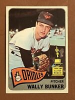 1965 Topps Wally Bunker Rookie Card #290 RC MINT - Orioles