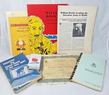 7 Pieces of Salvation Army Items Booklets Books Tissues William Booth