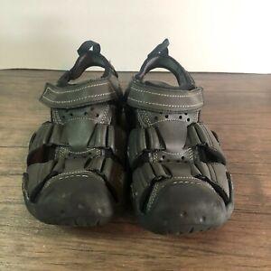 Crocs Mens Swiftwater 204562 Black Adjustable Strap Fisherman Sandals Size 8
