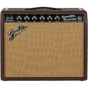 Fender LE '65 Princeton Reverb 15W 1x12 Tube Guitar Combo Amp Wine & Wheat
