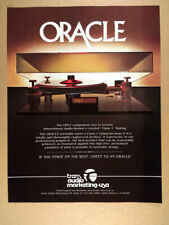1981 Oracle Delphi Turntable photo vintage print Ad