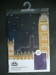 DMC GLOW IN THE D'ARCHITECTURE LONDON BY NIGHT COUNTED CROSS STITCH KIT  NEW F