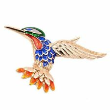 Beautiful Multi Colored Brooch Pin in Gold Tone Bird clothing brooch P7P9