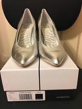 Dolce Vita Luella Leather Classic Pump, Heel, Shoe, Silver, Size 8