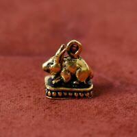 Vietguild/'s Buddha in Meditation Bronze Figurine Statue Amulet