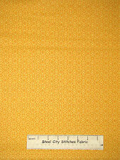 Christmas Snowflake Geometric Gold Cotton Fabric Benartex Ho Ho Let It Snow YARD