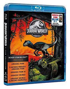 Blu Ray Jurassic Park World - Collezione Completa (Box 5 Film Blu Ray) ....NUOVO