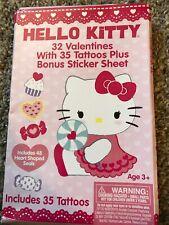 TY Valentine Hello Kitty 32 Valentines With 35 Tattoos And Bonus Stickers