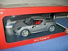 ALFA ROMEO 4C 1:18 AUTOART DIECAST CAR OPENING DOORS & REAR ENGINE COVER!