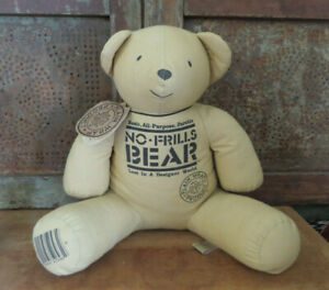 No Frills Bear Plain Wrap Product Lost in a Designer World Teddy Bear NWT