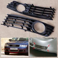 2pcs Front Left & Right Insert Bumper Fog Light Grille For 2002-2005 Audi A4 B6