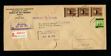 Japan Occupation of the Phillipines 1943 Registered Official Cover