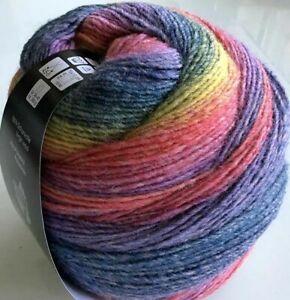 (100g/8,75€) NEUE FARBEN Gomitolo Versione Lana Grossa 200g Fb.425 Farbverlauf
