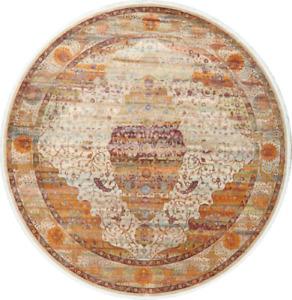 Floral Oriental Vintage Style Turkish Heat-Set Area Rug Distressed Design Carpet