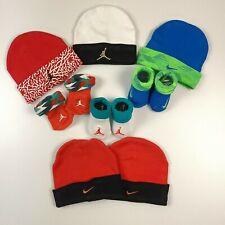 Newborn Nike Lot Hats Socks Jordan Red Blue Black