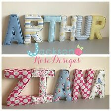 Nursery Letters Wall Art Handmade Fabric Name Personalised Girl Boy