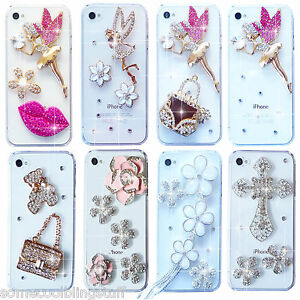 NEW 3D ANGEL BLING DELUX DIAMANTE SPARKLE CASE COVER FOR SAMSUNG iPHONE SONY HTC