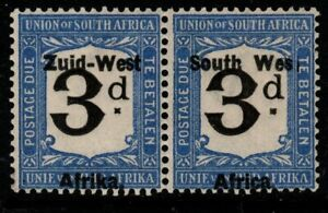 """SOUTH WEST AFRICA SGD4a 1923 3d BLACK & BLUE """"WES"""" FOR WEST MNH"""