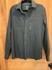 Mountain Hardwear Men's Stretch Long/Rollup Sleeve Button Front Shirt Gray Med