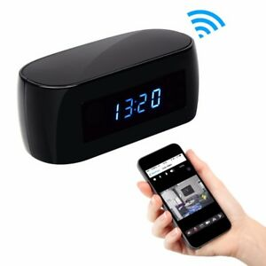 Wifi Camera 1080P Mini with Time display Electronic Clock P2P Motion Detection T
