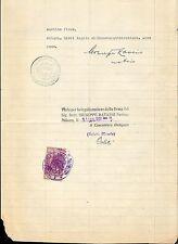 Italy document  revenue Atti Amministrativi 1931 marca da bollo