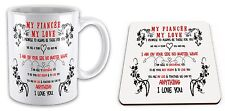 My Fiancée My Love I Promise To Always Be There For You Gift Mug And Coaster