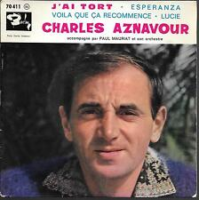 EP 4 TITRES--CHARLES AZNAVOUR--J'AI TORT / VOILA QUE CA RECOMMENCE