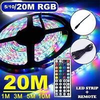 1-20M RVB 3528 LED lumières bande avec changement couleur distance du rétroéc SH