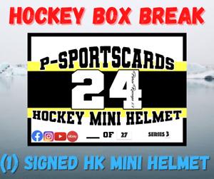 2021 P-SPORTSCARDS24'S PREMIUM SIGNED HOCKEY MINI HELMETS LIVE BOX BREAK #52 NHL