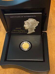 2016 Mercury Dime Centennial Gold Coin, Perfect in US Mint Box