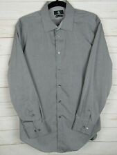 Calvin Klein Mens Long Sleeve Gray w/Dk Stripes Slim Fit Button Up Shirt Size L