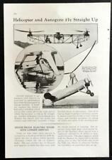 Juan de la Cierva Autogyro C.30 & Nicolas Florine Helicopter 1934 pictorial