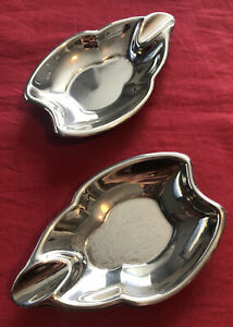 Pair Of Vintage Silver Plated Ashtrays c.1980's