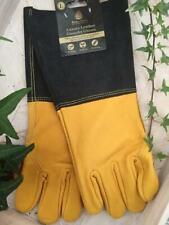 LUXURY LEATHER GAUNTLET  GLOVES KENT & STOWE LARGE L tough hard wearing & SOFT