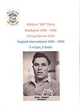 Bill Perry Blackpool 1949-1962 rare original main signé photo découpe