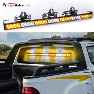 32'' Led Emergency Strobe Lights Bar Warning Amber Windshield Traffic Advisor
