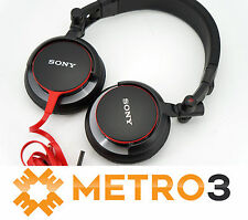 Sony MDR-V55 Black/Red Digital DJ Foldable Reversible Headphones MDRV55 | Refurb