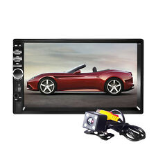 "7"" 2DIN Car Bluetooth Touch LCD Car DVD CD Player MP5 Radio Head Stereo + Camara"
