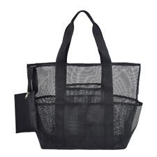 Large Mesh Beach Tote Bag Multi-Functional Folding Shoulder Bag Picnic Net Bag