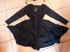 BORIS INDUSTRIES BALLON Kleid 48 50 (5)  NEU! schwarz A-Form Stretch LAGENLOOK