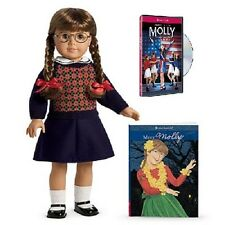 American Girl MOLLY DOLL and BOOK +  bonus DVD fast ship friend of EMILY