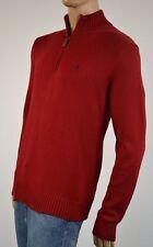 Polo Ralph Lauren RED 1/2 HALF ZIP SWEATER NWT M