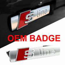 S Line Grill Decal Emblem Badge Chrome Matt OME Top Quality Alloy For Audi A8 A3