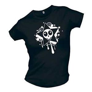 Cute Stuff - Starskully Girlie Shirt schwarz