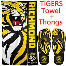 Richmond Tigers AFL Footy Bath Beach Gym Towel 150cm X 75cm