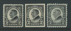 Bigjake:#610-612, 2 cent Harding set, *H