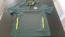 NFL Majestic Green Bay Packers Green Polo Shirt (lg) - Cool Base Logo Vented