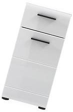 Furnline 1116-802-01 Skin High Gloss Bathroom Side Cabinet, White