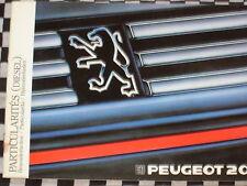 notice de bord & conducteur ADDITIF PEUGEOT 205 DIESEL 1988 / français english