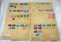 8 SWITZERLAND to USA Airmail Stamps Postage Sets on Covers Collection HELVETIA